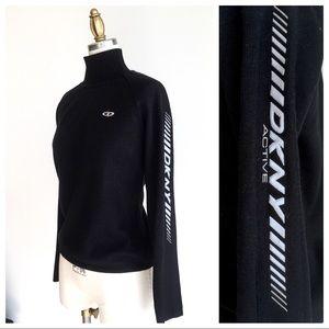 DKNY Active Black Turtleneck Ski Sweater.